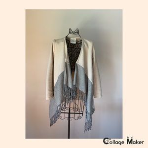 EUC BB Dakota Coat With Fringe and Pockets